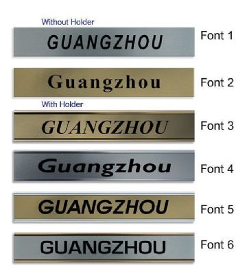 Guangzhou Clock Name Plate |World Time Zone City Wall clocks Sign custom Plaque
